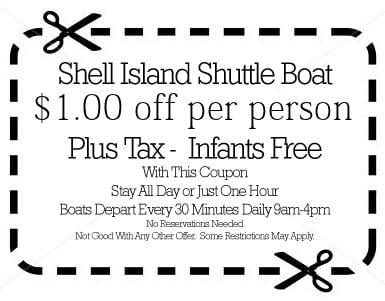 Shell Island Shuttle Panama City Beach Coupons