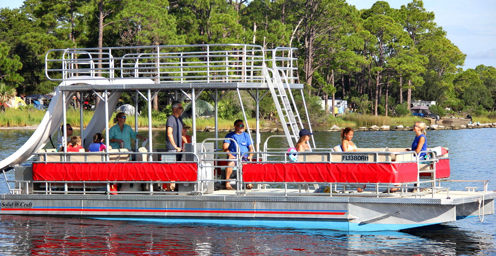 Double decker pontoon boat rentals in panama city beach for Suntracker beach chair