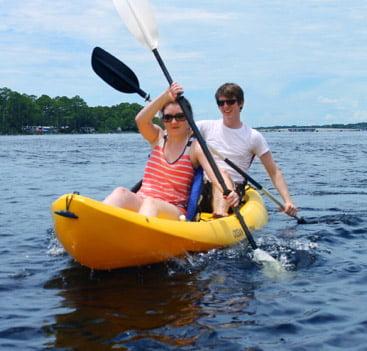 Kayak Rentals in Panama City Beach at Shell Island Shuttle